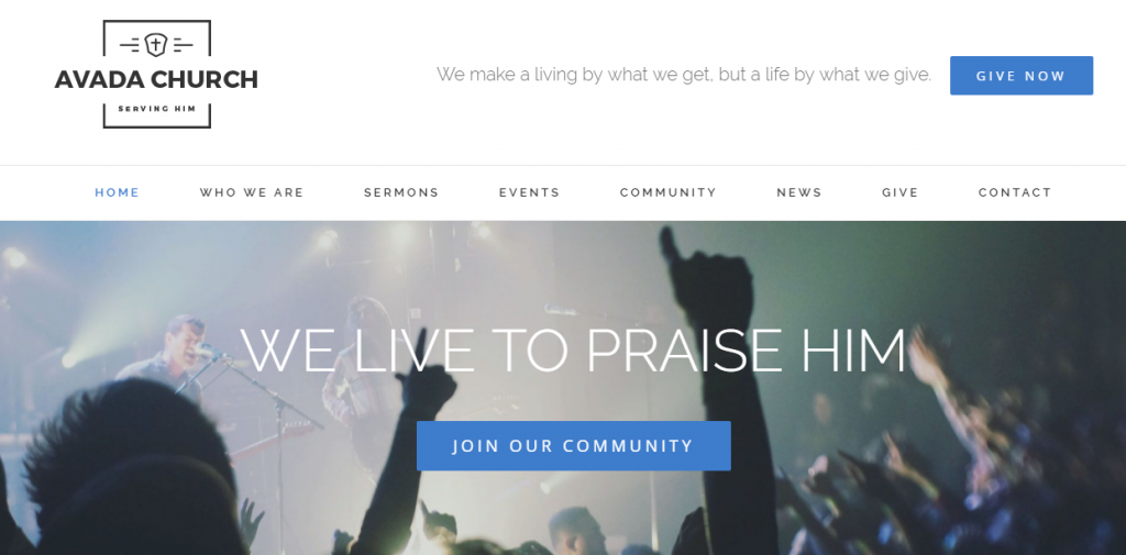 avada church wordpress theme - Church Website Design Ideas