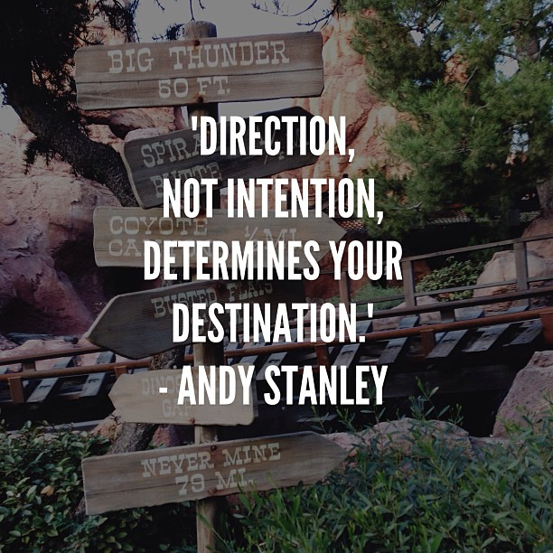 direction intention destination