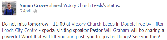 church facebook page