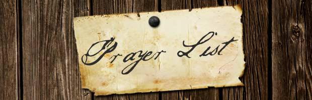 friends prayer list