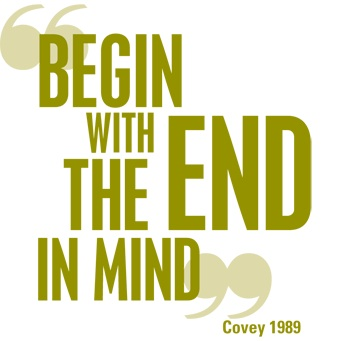begin with end in mind quote