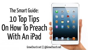 how to preach with an ipad