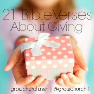 21 Bible Verses About Church Giving