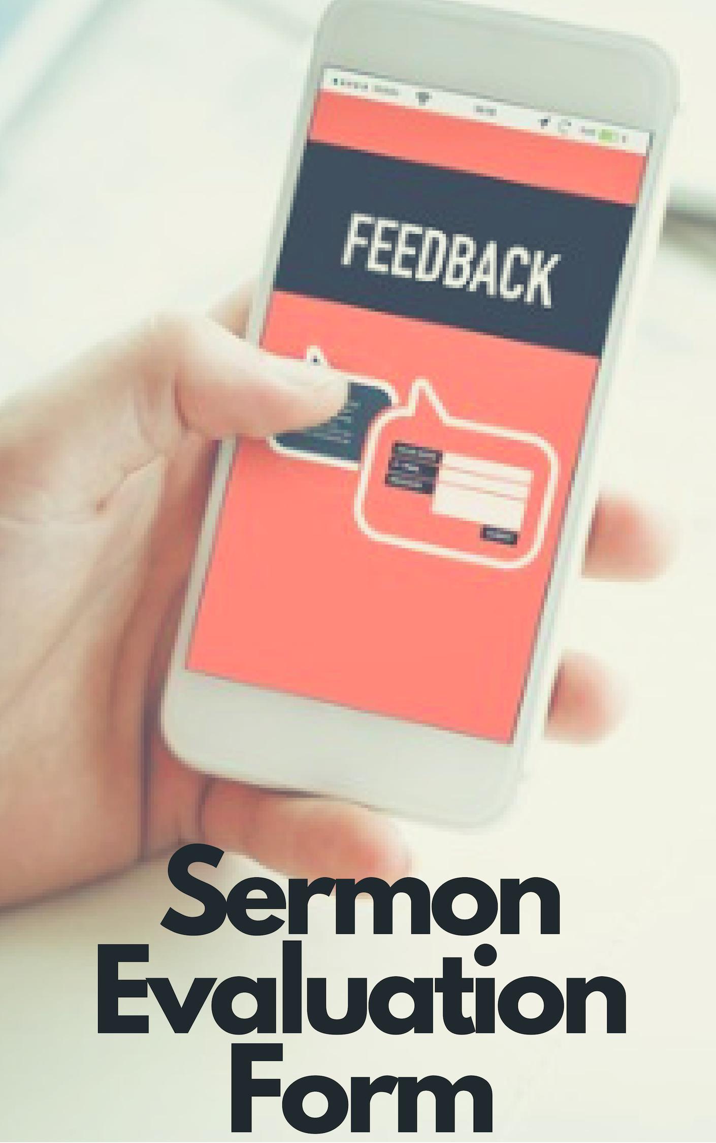 sermon evaluation form keller  Free Sermon Evaluation Form [Instant Download]