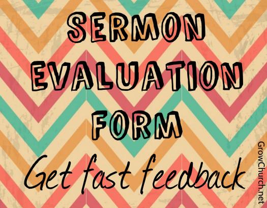 sermon-evaluation-form