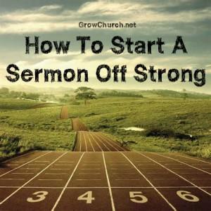 how to start a sermon