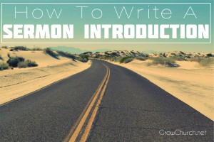 how to write a sermon introduction