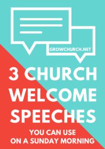 Free church Welcome Speeches
