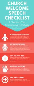 church welcome speech checklist infographic